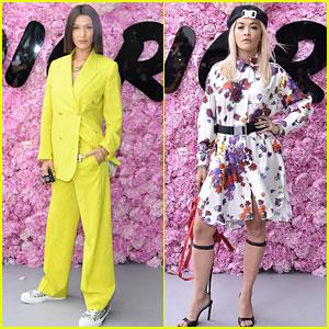Bella Hadid & Rita Ora Step Out for Dior Homme's Paris Show