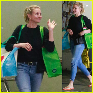 Cameron Diaz Is All Smiles While Grocery Shopping in Beverly Hills