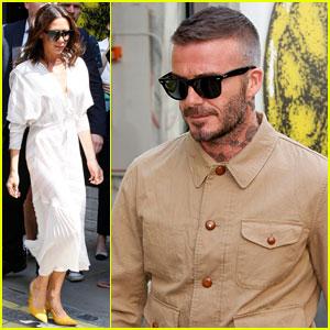 Victoria Beckham Supports Husband David Beckham at Kent & Curwen Fashion Show