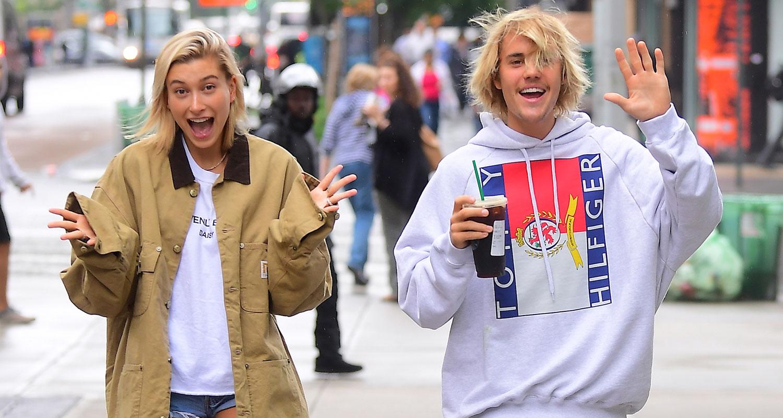 Justin Bieber & Hailey Baldwin Get Silly During Starbucks Run