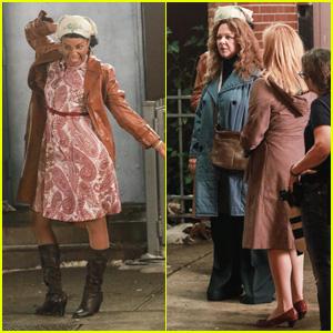 Bon Tiffany Haddish, Melissa McCarthy U0026 Elisabeth Moss Film U0027The Kitchenu0027 In  New York!