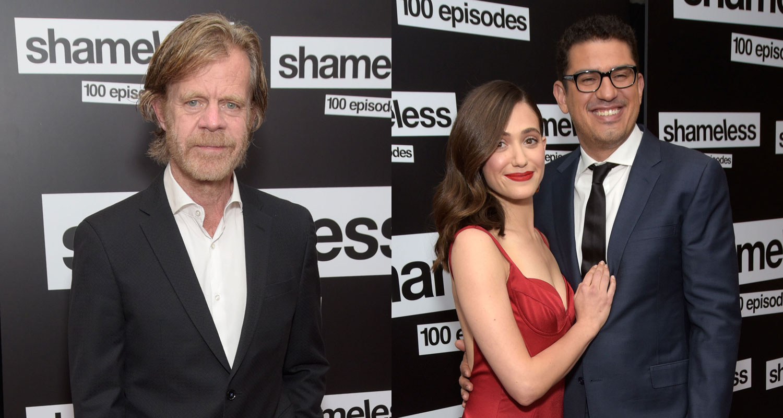William H  Macy Joins Emmy Rossum & Sam Esmail at 'Shameless' 100