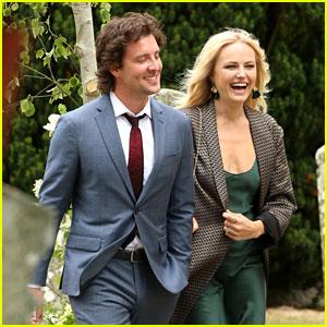 Malin Akerman & Boyfriend Jack Donnelly Attend Kit Harington & Rose Leslie's Wedding