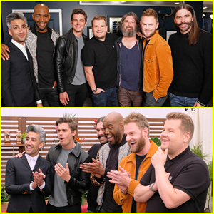 'Queer Eye' Cast Help James Corden Make Over 'Late Late Show' Guitarist - Watch Here!