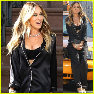 Sarah Jessica Parker Shoots Scenes for Intimissimi Commercial in NYC!