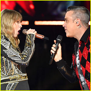 Taylor swift photos news and videos just jared taylor swift robbie williams perform angels duet at her reputation tour concert in london stopboris Gallery