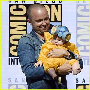 Aaron Paul Dresses Daughter Story in HazMat Suit for 'Breaking Bad' Reunion at Comic-Con!