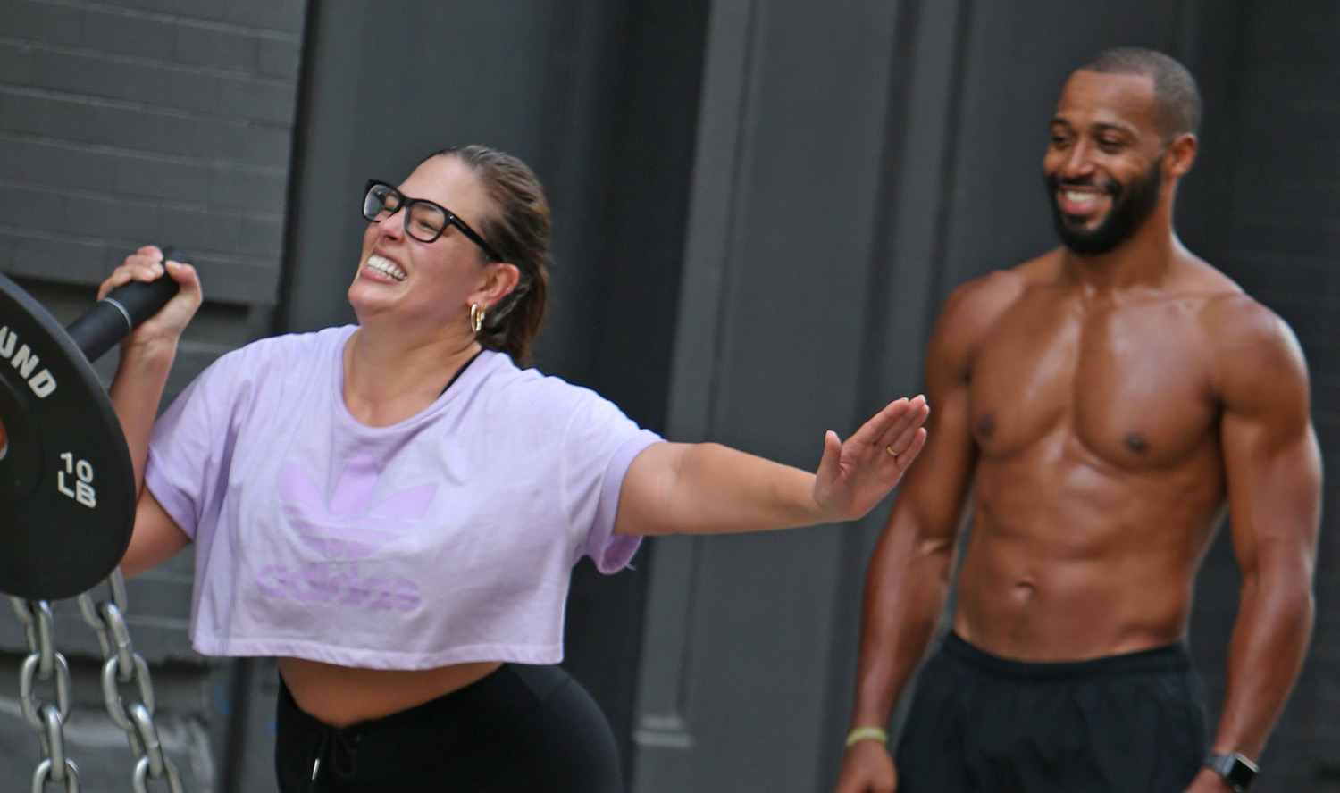 b51f50b3315ca Ashley Graham & Husband Justin Ervin Display Their Strength During an  Outdoor Workout! | Ashley Graham, Justin Ervin, Shirtless : Just Jared