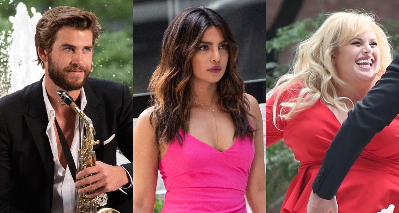 Liam Hemsworth, Priyanka Chopra, & Rebel Wilson Shoot Musical Scene for 'Isn't It Romantic'