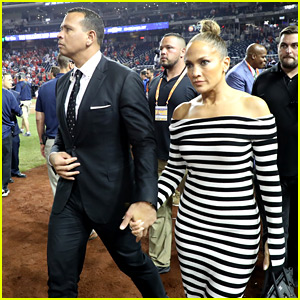 Jennifer Lopez Joins Alex Rodriguez at MLB All-Star Game!