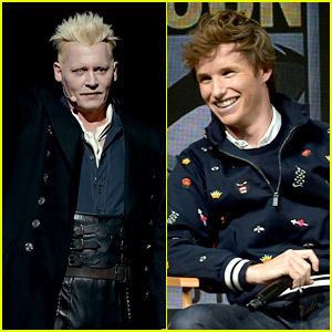 Johnny Depp Stops By Comic-Con in Character as Grindelwald Alongside 'Fantastic Beasts' Cast!