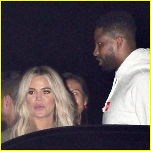 Khloe Kardashian Has Night Out with Tristan Thompson & LeBron James!