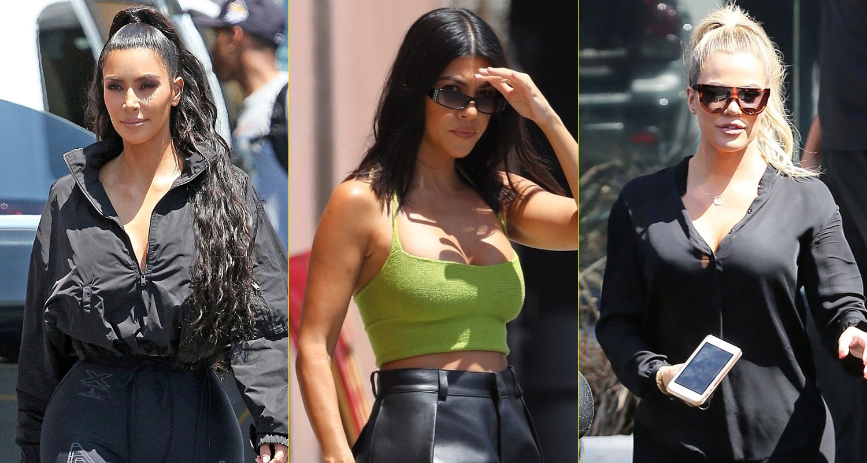 Kim, Khloe & Kourtney Kardashian Stop By \'Saved By The Bell\' Pop-Up ...