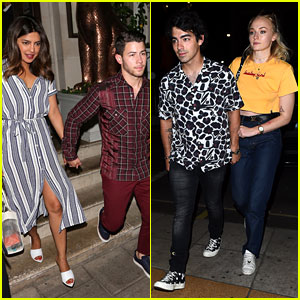 Nick & Joe Jonas Double Date With Priyanka Chopra & Sophie Turner!
