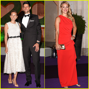 Novak Djokovic Celebrates Men's Final Win at Wimbledon Champions Dinner