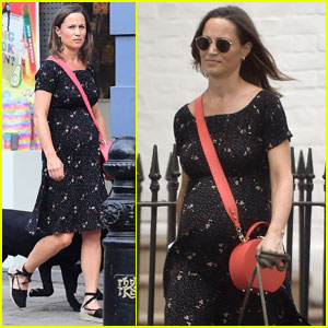 Pippa Middleton Shows Her Baby Bump While Taking Her Pups on a Walk!