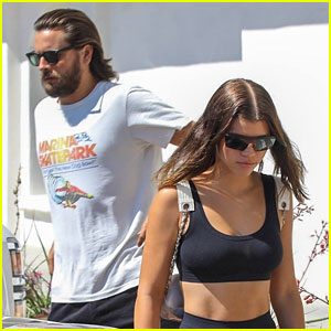 Sofia Richie Shows Off Her Abs With Scott Disick
