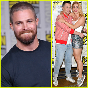 Stephen Amell & 'Arrow' Co-Stars Debut Season 7 First Look at Comic-Con - Watch Now!