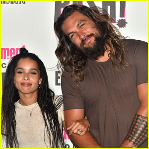 Zoe Kravitz Hangs Out with Stepdad Jason Momoa at EW's Comic-Con Bash!