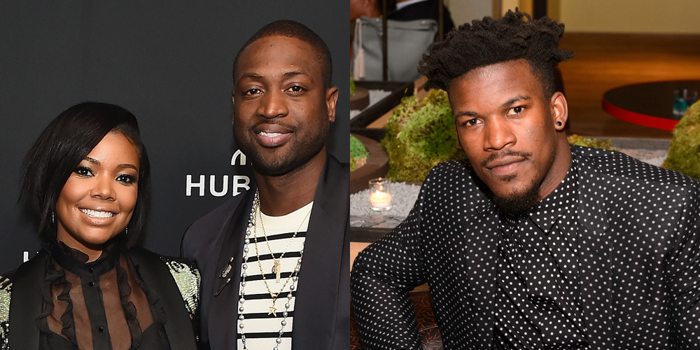 Dwyane Wade Calls Out Former Teammate Jimmy Butler Over His Comment On Gabrielle Union S Instagram Photo Dwyane Wade Gabrielle Union Jimmy Butler Just Jared