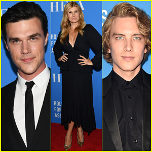 Connie Britton Joins 'American Horror Story' Co-Stars Finn Wittrock & Cody Fern at HFPA Banquet