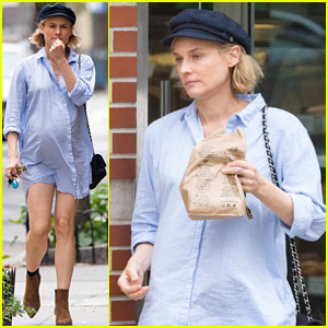 Pregnant Diane Kruger Shows Her Baby Bump in Summery Look!