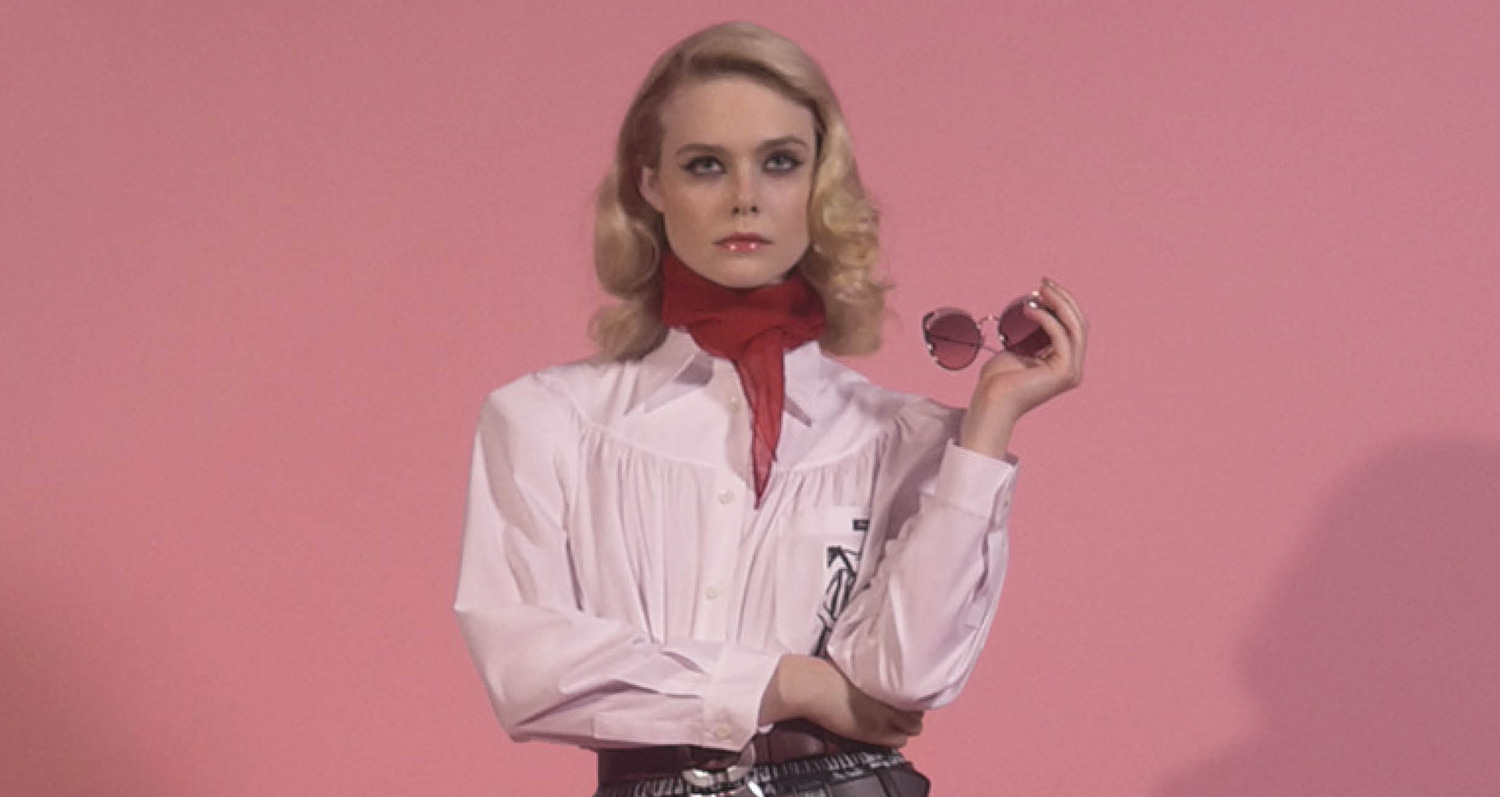 79a2105298be Elle Fanning Goes Retro in Miu Miu s New Campaign