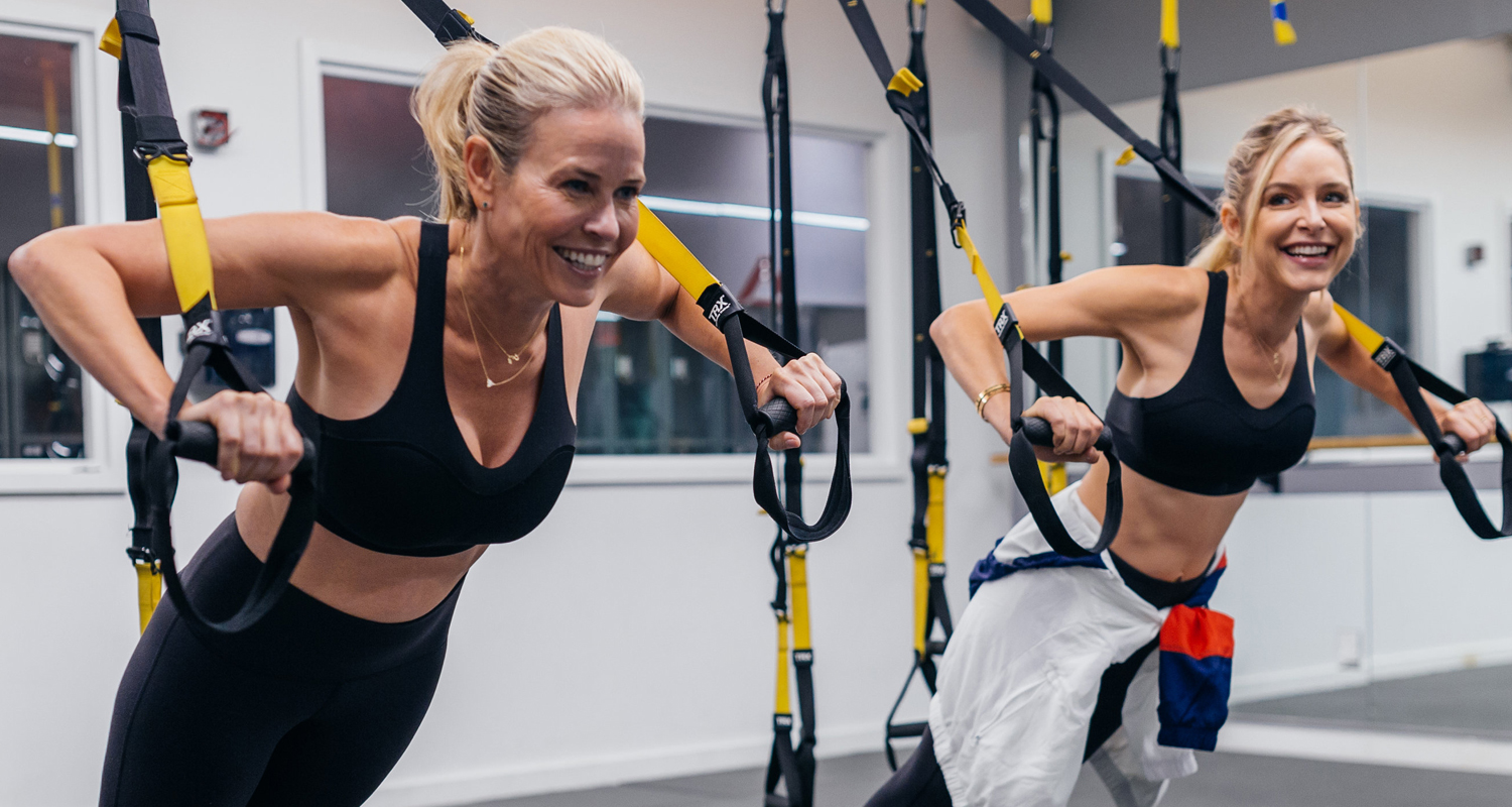 Chelsea Handler & Jenny Mollen Work It Out at Flex Studios NYC!