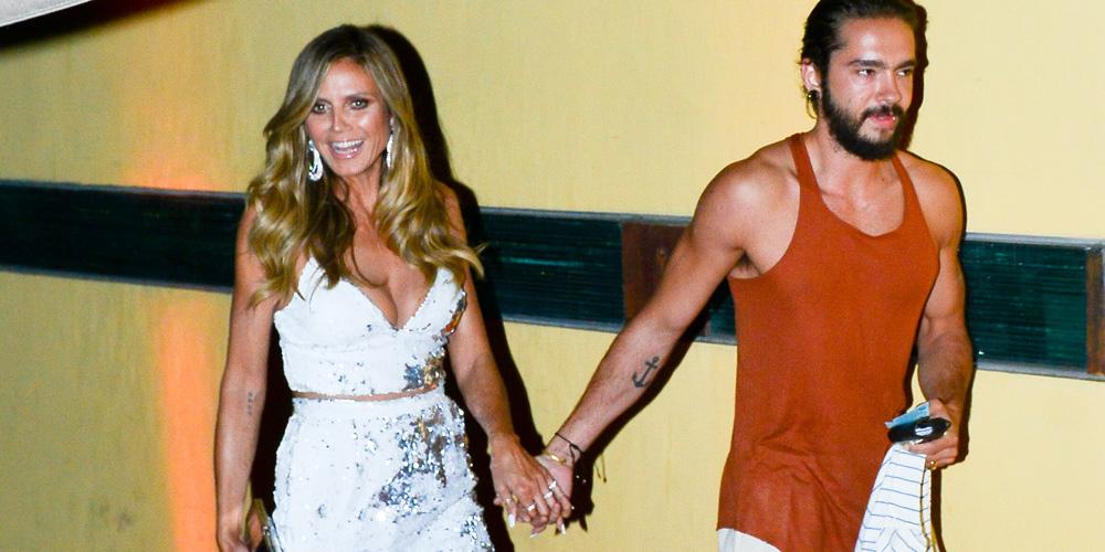 Heidi Klum & Boyfriend Tom Kaulitz Are All Smiles While Heading to Simon Cowell's Party in LA!