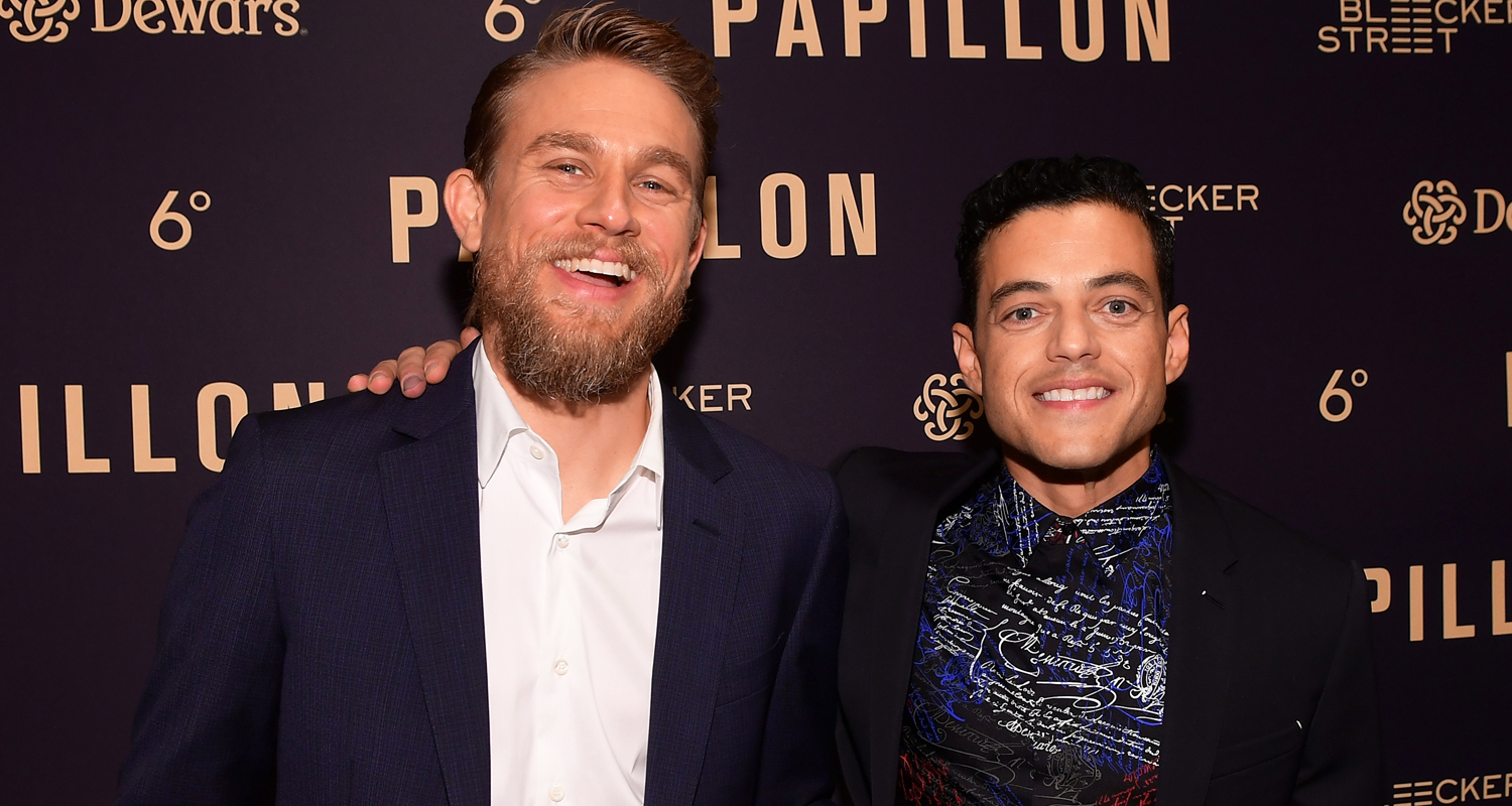 Charlie Hunnam & Rami Malek Team Up for ?Papillon? L.A Special Screening!