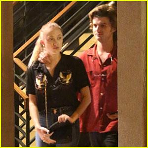 Stranger Things' Joe Keery & Girlfriend Maika Monroe Show Some PDA on Date Night!
