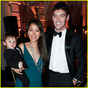Jonathan Rhys Meyers & Wife Mara Bring Son Wolf To Venice Film Festival Celebrazione Party!