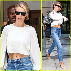 Rosie Huntinton-Whiteley Bares Her Midriff While Out in NYC