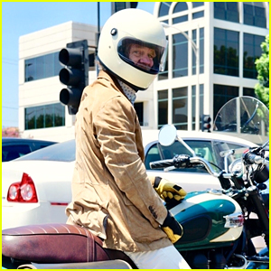 William H. Macy Goes for a Motorcycle Ride in Los Angeles