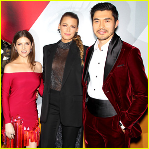 Anna Kendrick Blake Lively Henry Golding Premiere A Simple