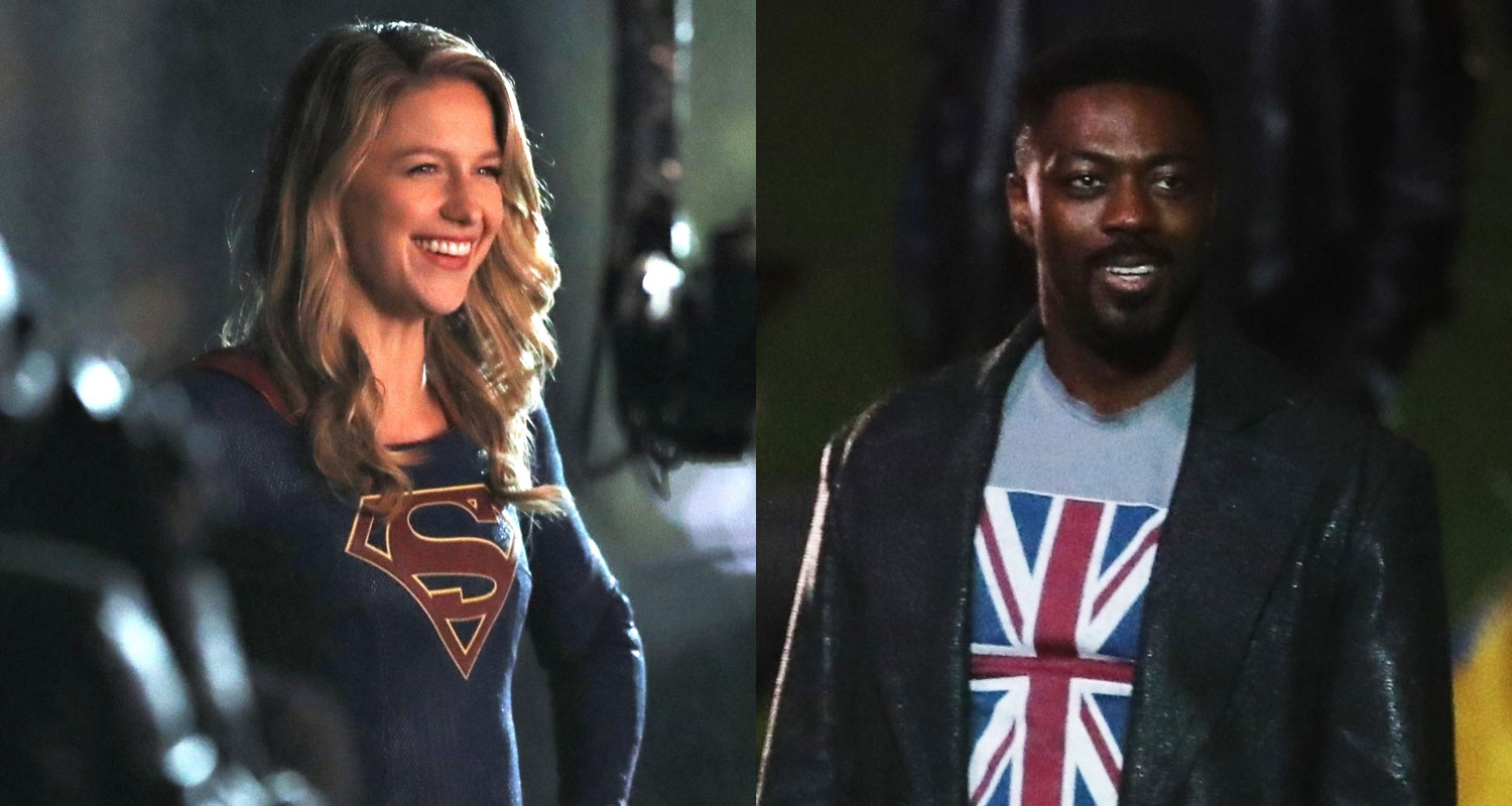 Melissa Benoist Is All Smiles While Filming Supergirl