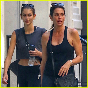 Cindy Crawford & Kaia Gerber Keep Fit with a Mother-Daughter Workout