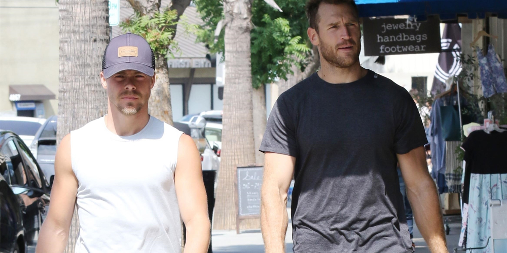 Derek Hough & Brother-In-Law Brooks Laich Grab Lunch in LA