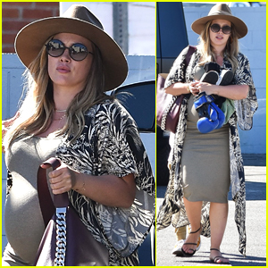 Hilary Duff Shows Off Her Major Baby Bump While Running Errands!