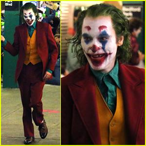 Joaquin Phoenix Transforms into The Joker While Filming Riot Scene!
