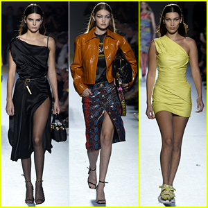 Kendall Jenner Joins the Hadid Sisters in Versace's Milan Show