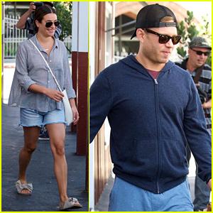 Lea Michele & Fiance Zandy Reich Run Errands Together