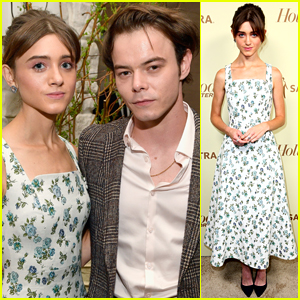 Natalia Dyer & Charlie Heaton Celebrate 'Stranger Things' Emmy Nominations