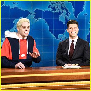 Pete Davidson Talks Ariana Grande Engagement on SNL's 'Weekend Update'