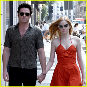 37bce1d502f Richard Madden   Girlfriend Ellie Bamber Hold Hands During Milan Fashion  Week!