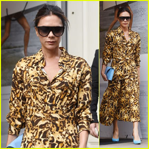 Victoria Beckham Makes a Stylish Exit From Her Flagship Store in Mayfair!