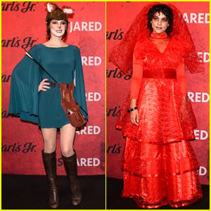 Ashley Greene & Alexandra Shipp Get in the Halloween Spirit for Just Jared's Party!