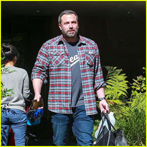 Ben Affleck Heads Out After a Meeting in Santa Monica