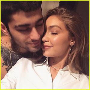 Gigi Hadid & Zayn Malik Cuddle Up in Cute New Instagram Selfie