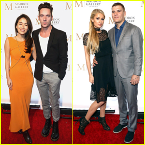 Jonathan Rhys Meyers & Wife Mara Couple Up for Maddox Gallery Grand Opening!